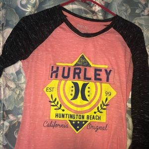 Hurley long sleeved shirt